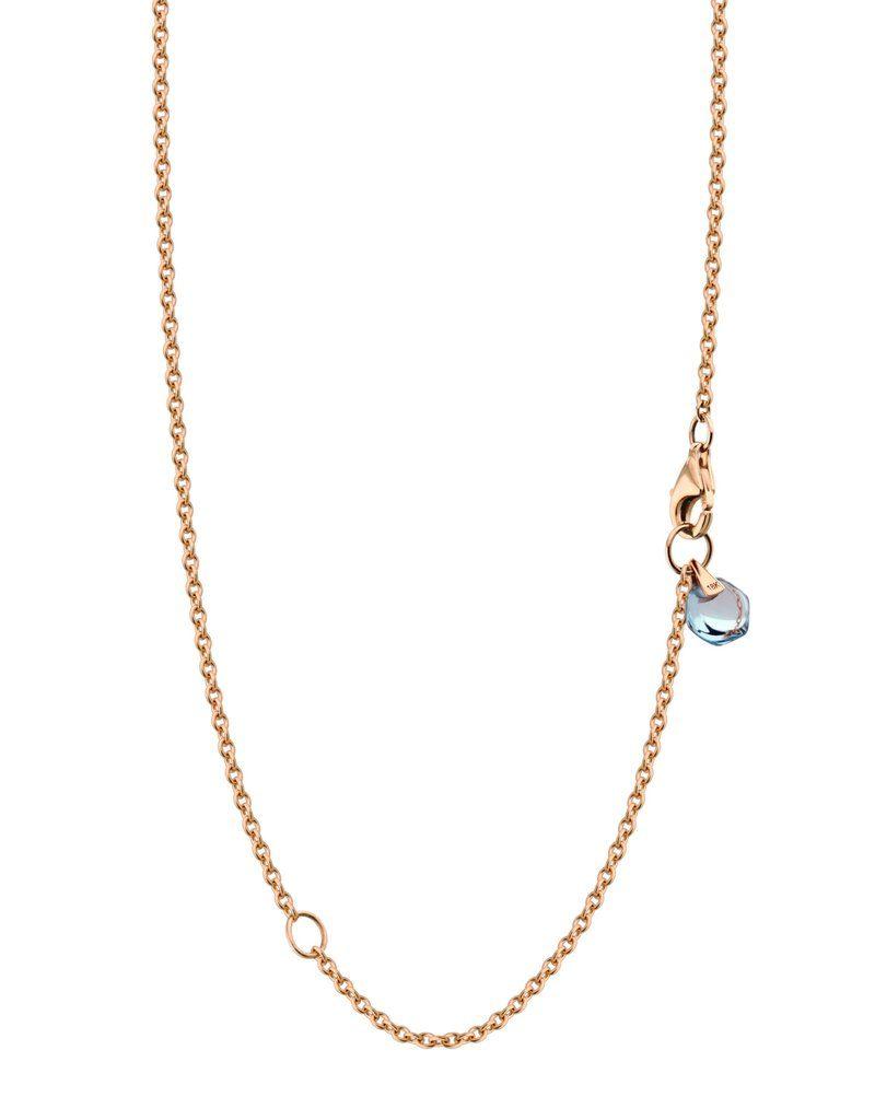 Rebecca Li 18k Solid Rose Gold Chain Healing Blue Topaz