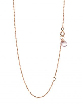 18K Rose Gold Crystal Link Small Rose Quartz Rebecca Li