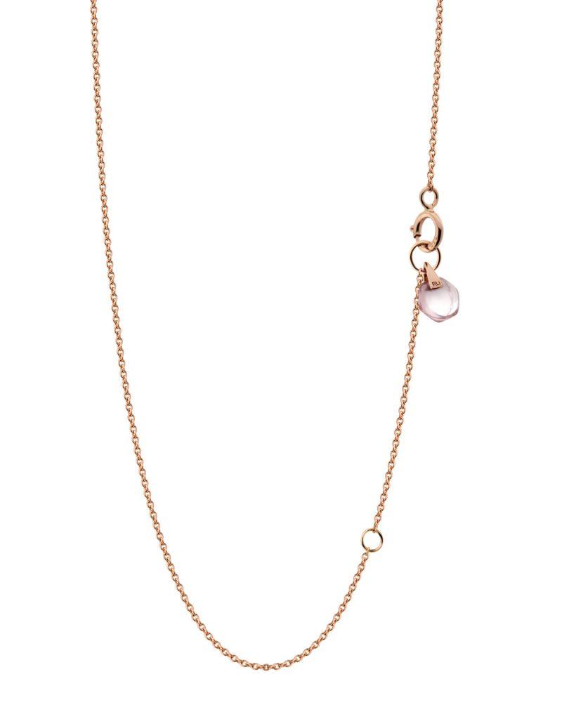 18K Rose Gold Crystal Link Small Rose Quartz Rebecca Li