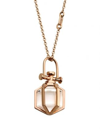 Rebecca Li Mini Six Senses Talisman Pendant with Rock Crystal
