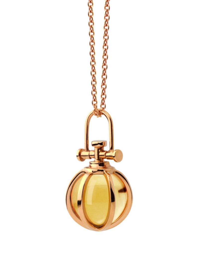 RebeccaLi-Mini-Crystal-Ball-Pendant-Orange-Citrine-1