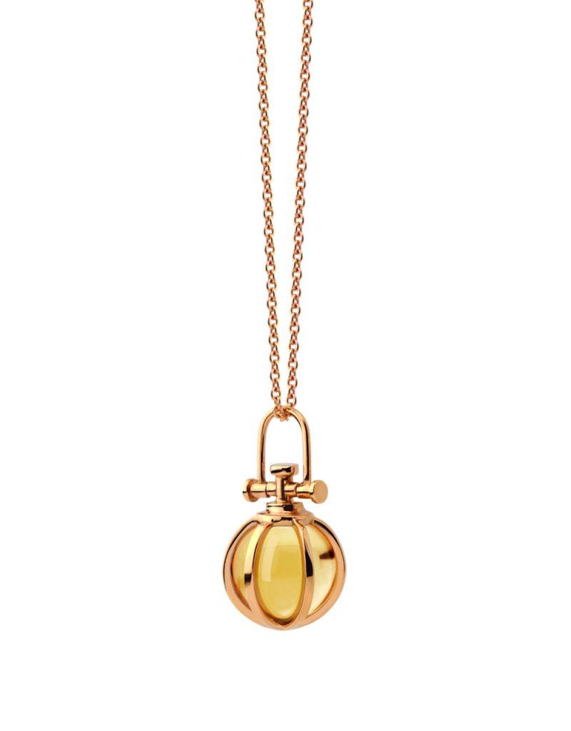 RebeccaLi-Mini-Crystal-Ball-Pendant-Orange-Citrine