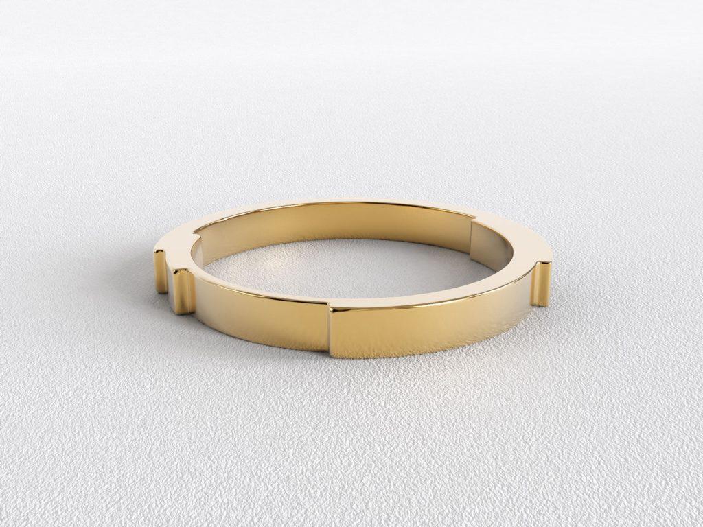2.5 mm wide Rebecca Li Infinite Love Ring