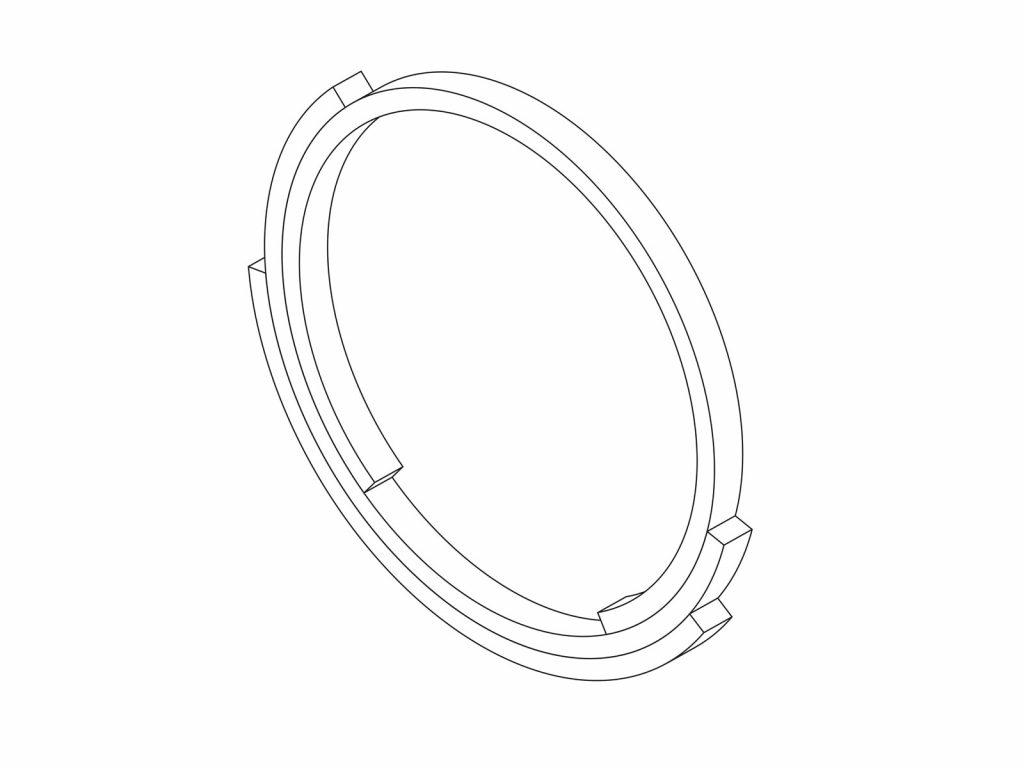 Rebecca Li Infinite Love Ring 3 Layer 1mm