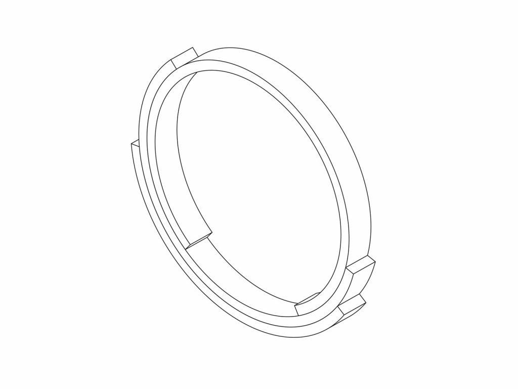 Rebecca Li Infinite Love Ring 3 layers 2mm