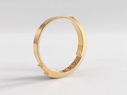 Rebecca Li Infinite Love Ring 3 layer 2mm Rose Gold