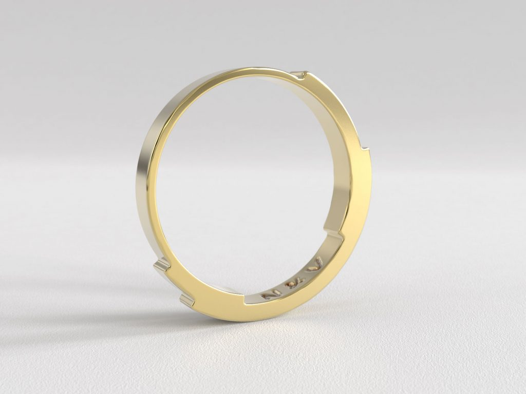 Rebecca Li Infinite Love Ring 2mm Yellow Gold