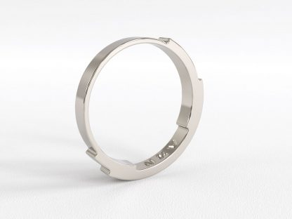 Rebecca Li Infinite Love Ring 3 Layer 2mm White Gold