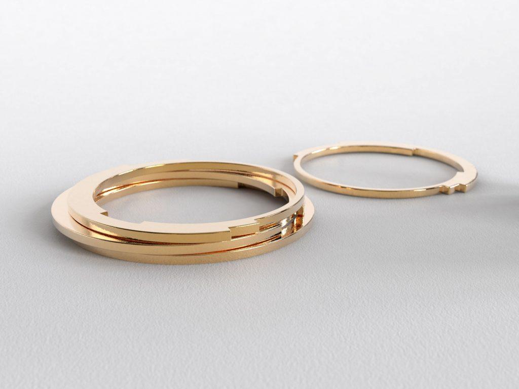 Rebecca Li Infinity Love Ring 2mm Thin Dainty Wedding Band