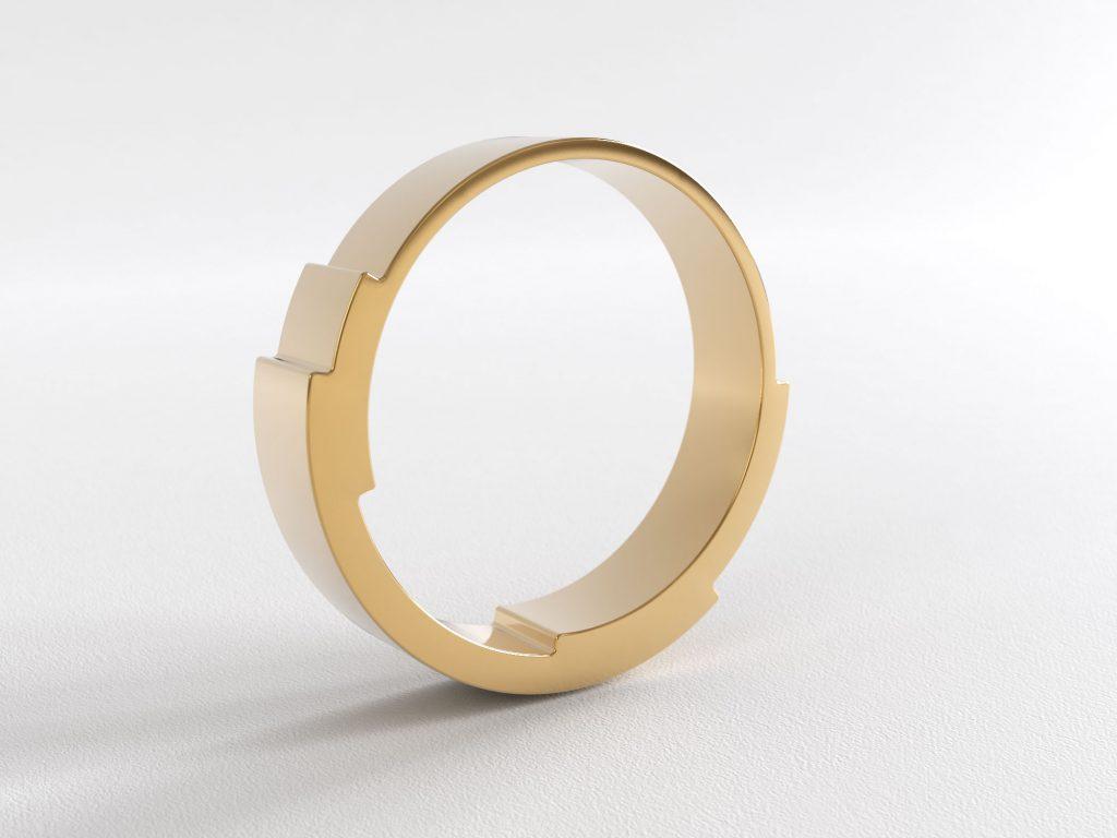 Infinite Love Ring 3 Layer 4mm Rose Gold