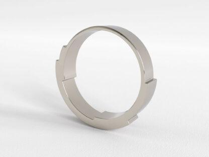 Infinite Love Ring 3 Layer 4mm White Gold