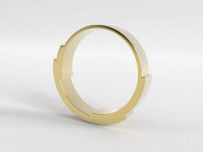 Infinite Love Ring 3 Layer 4mm Yellow Gold
