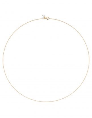 18K Solid Rose Gold Necklace Chain with Natural Rock Crystal Charm, Rebecca Li, Crystal Link Collection