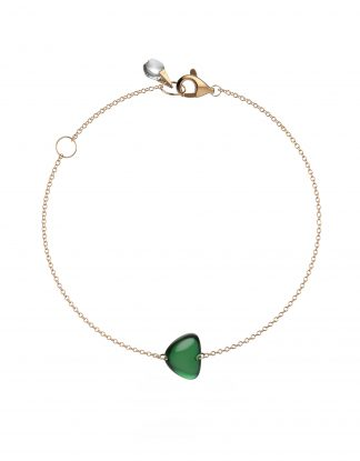 Rebecca Li Crystal Link Bracelet Lab Grown Emerald