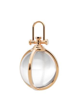 Rebecca Li Crystal Orb Collection, Large, 18k Rose Gold, Natural Rock Crystal