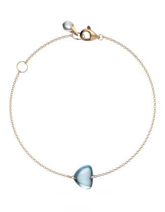 Rebecca Li Crystal Link Bracelet Blue Topaz