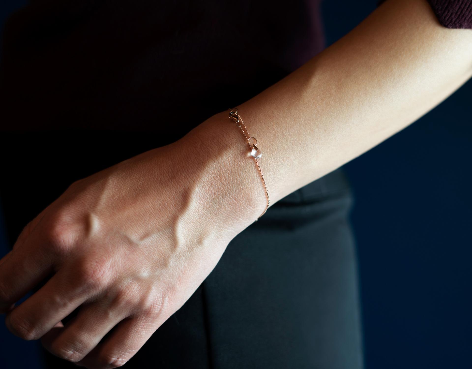 Rebecca Li Crystal Link Bracelet