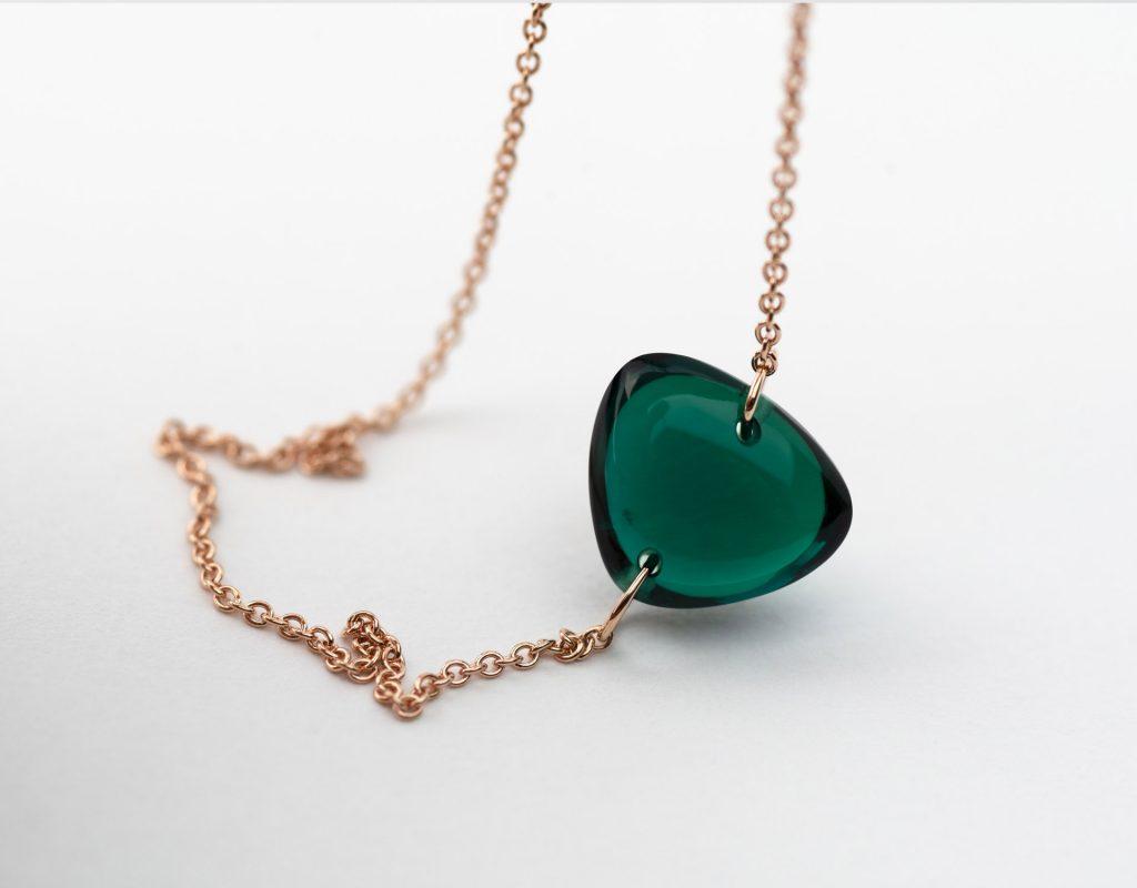 Rebecca Li Crystal Bracelet With Lab Grown Emerald