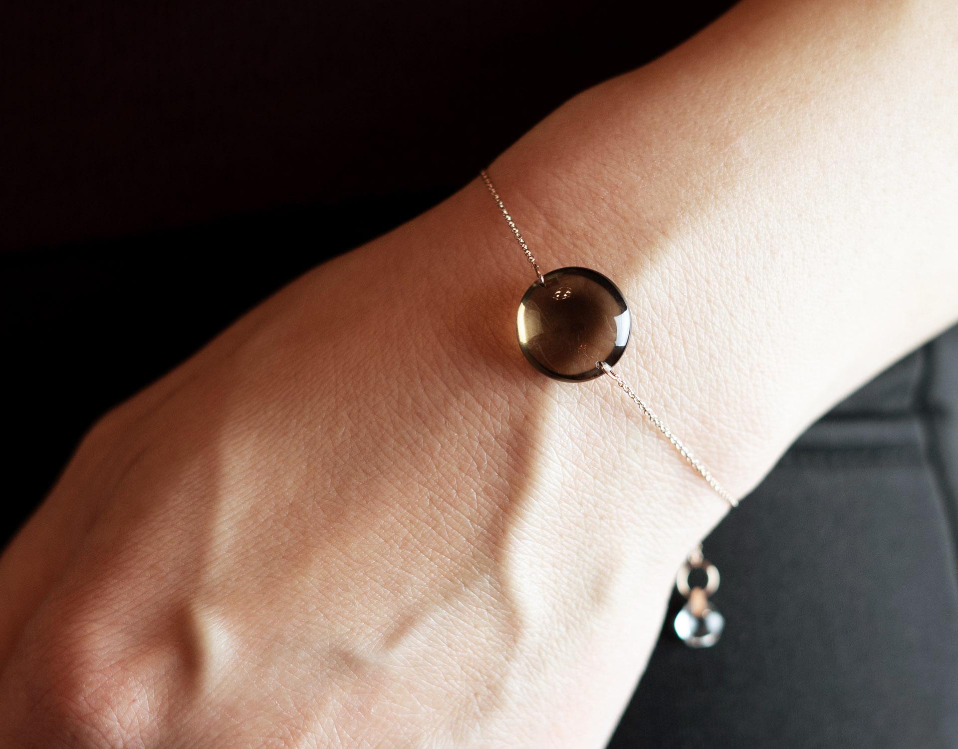 Rebecca Li Crystal Bracelet With Smoky Quartz