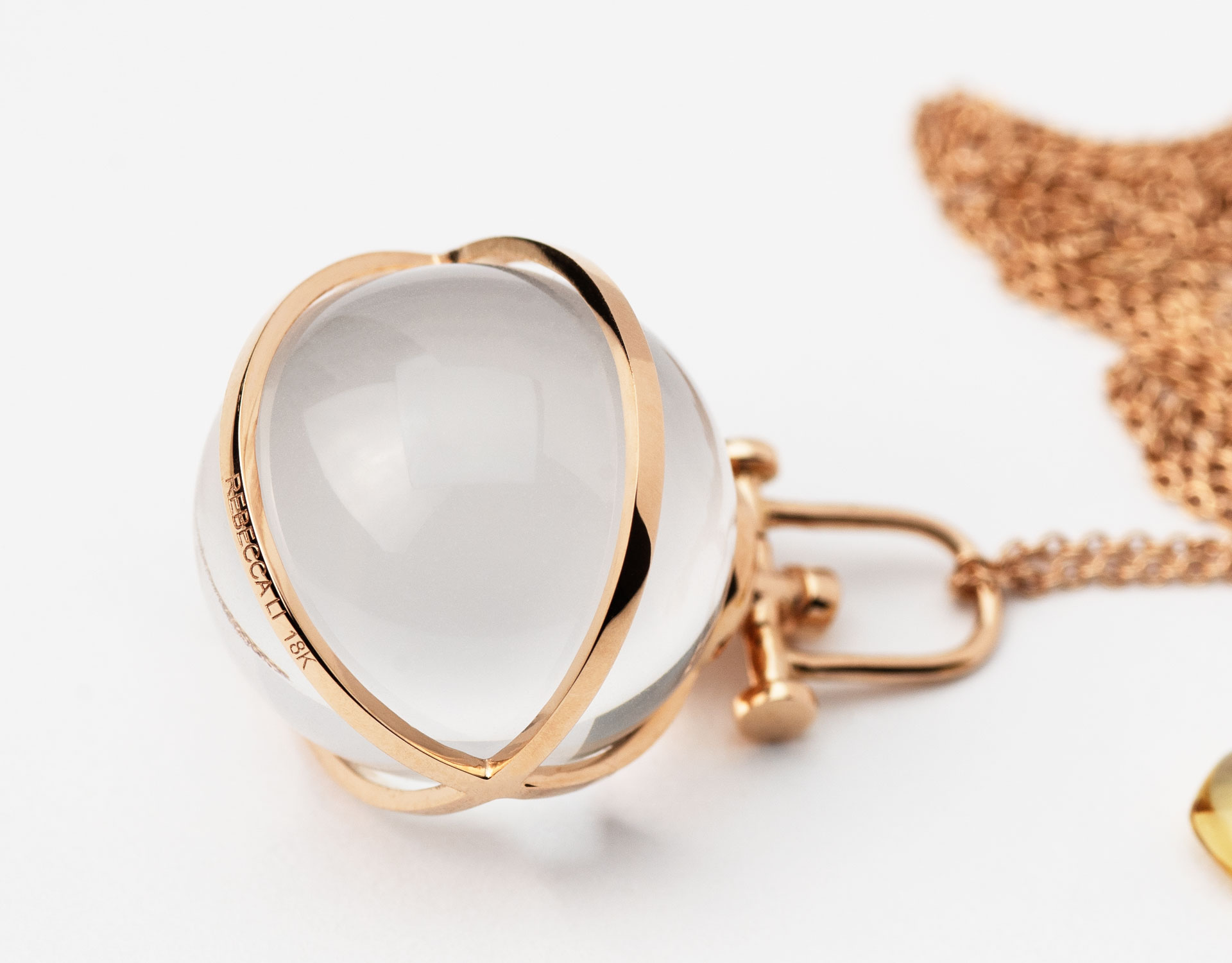 Rebecca Li Crystal Orb collection necklace, Pendant Close Up
