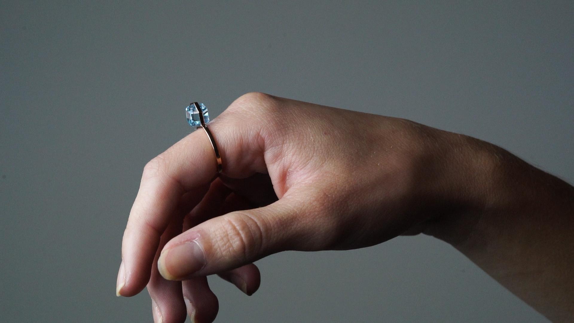 Rebecca Li Six Senses Natural Blue Topaz Ring