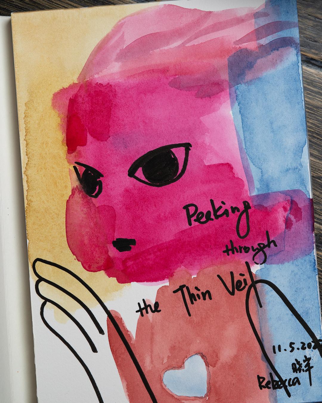Peeking Through The Thin Veil - Rebecca Li Art