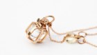 Mini Six Senses Talisman Pendant, Clear Rock Crystal, 18k Solid Gold