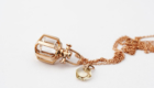 Mini Rebecca Li Six Senses Talisman Pendant with Rock Crystal 18k Rose Gold