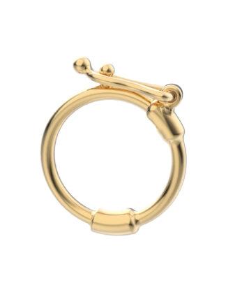 Rebecca Li Universal Clip, 18k Yellow Gold, Enhancer, Open Link