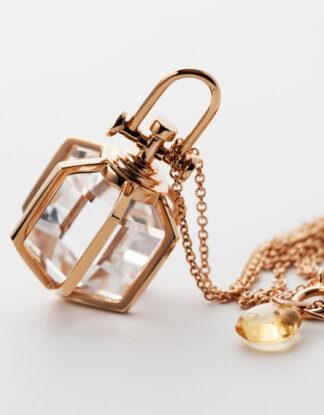 Rebecca Li Six Senses Talisman Rock Crystal, 18k Rose Gold