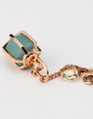 Rebecca Li Six Senses Talisman Mini, 18k Solid Rose Gold with Natural Amazonite