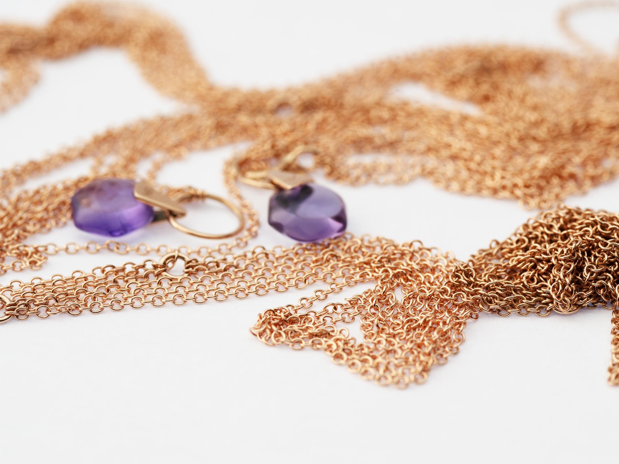 Rebecca Li 18k Rose Gold Chains