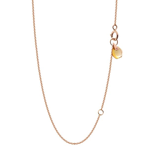 Rebecca Li Signature 18k Rose Gold Chain with Natural Orange Citrine