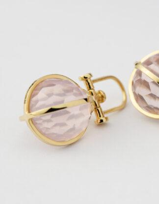 Rebecca Li Crystal Orb Talisman Pendant Necklace, 18k Yellow Gold, Natural Rose Quartz