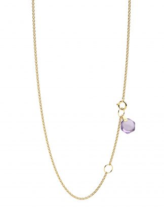 """Rebecca Li Crystal Link Dainty 18k Solid Yellow Gold Necklace Chain, 18"""""""